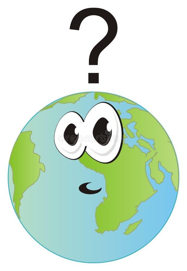 Fronte di sorpresa del pianeta illustrazione vettoriale