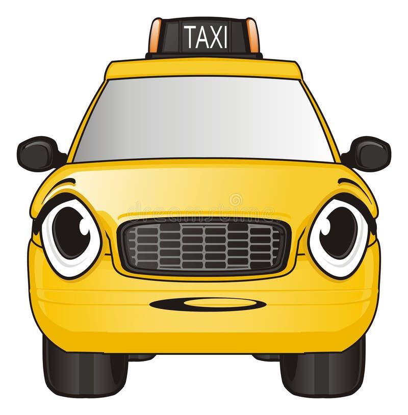 Fronte di sorpresa del taxi royalty illustrazione gratis