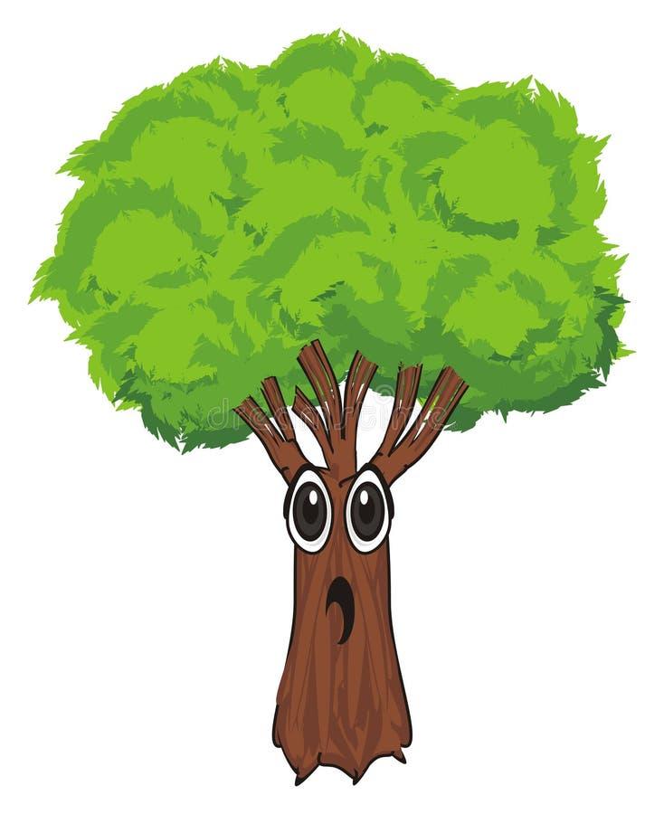 Fronte di sorpresa dell'albero illustrazione di stock
