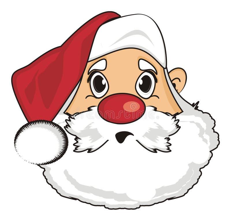 Fronte di sorpresa di Santa illustrazione di stock
