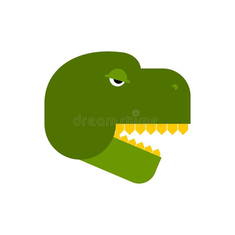 Fronte di tirannosauro Testa arrabbiata del dinosauro Parte anteriore di T-Rex illustrazione vettoriale