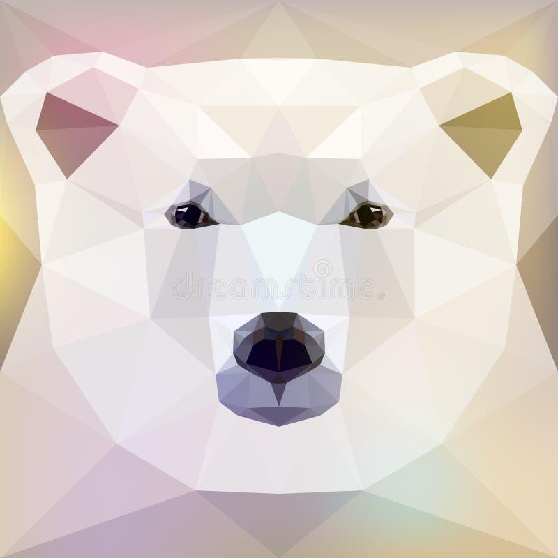 Fronte di un orso polare illustrazione di stock