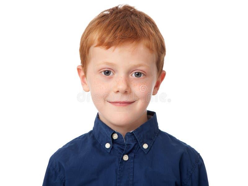 Fronte di un ragazzo dello zenzero fotografia stock libera da diritti