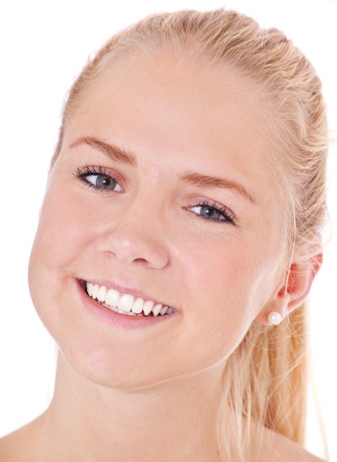 Fronte di una ragazza scandinava attraente immagine stock - Colorazione immagine di una ragazza ...