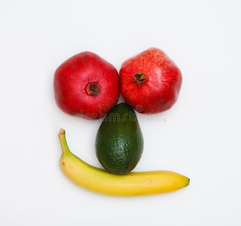 Fronte fatto della frutta fotografia stock