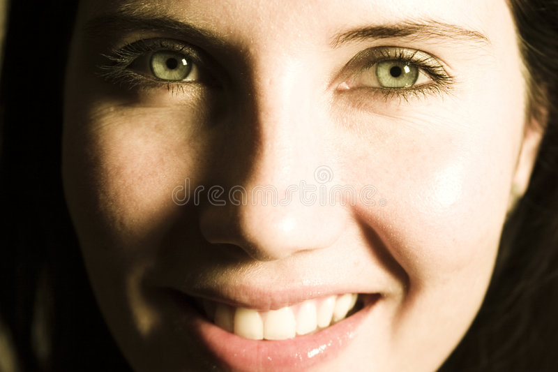 Fronte felice della donna immagini stock libere da diritti