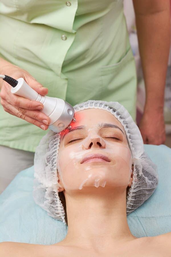 Fronte femminile, rafforzamento della pelle di rf immagini stock libere da diritti