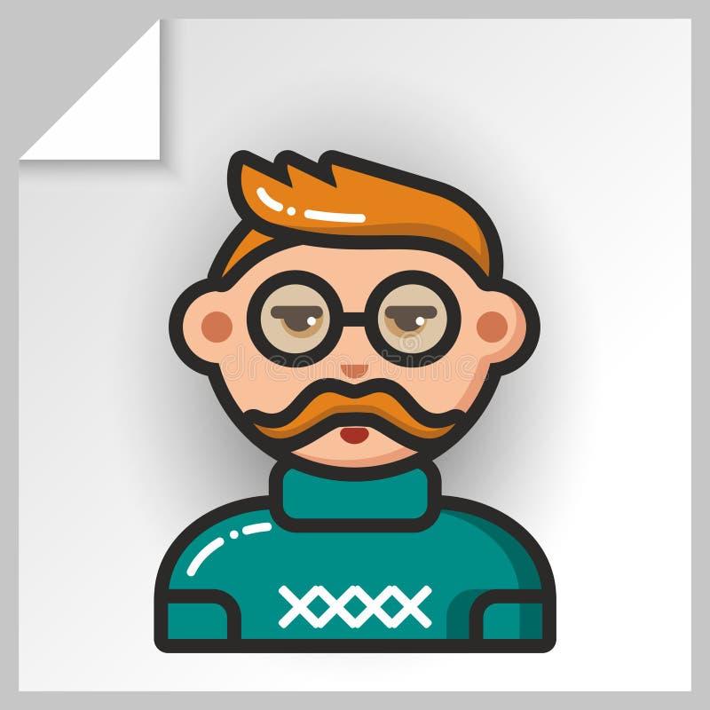 Fronte icons_2 della gente illustrazione di stock