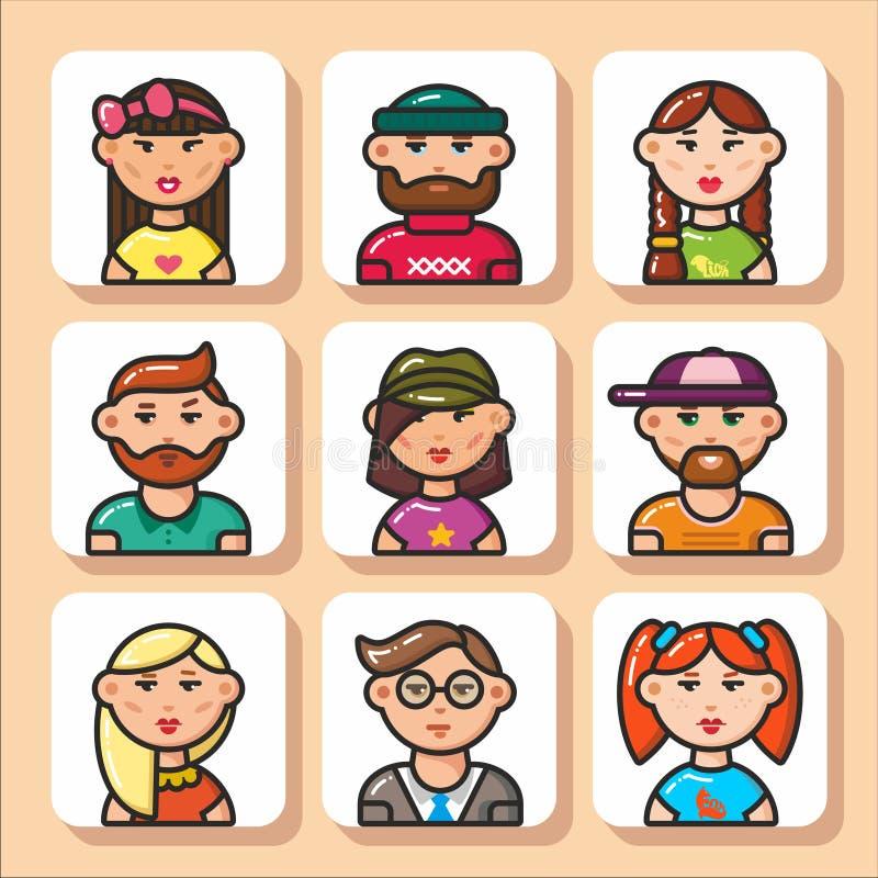 Fronte icons_11 della gente royalty illustrazione gratis
