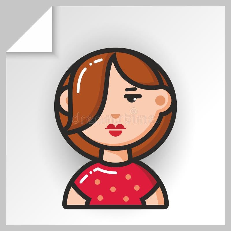 Fronte icons_3 della gente illustrazione vettoriale