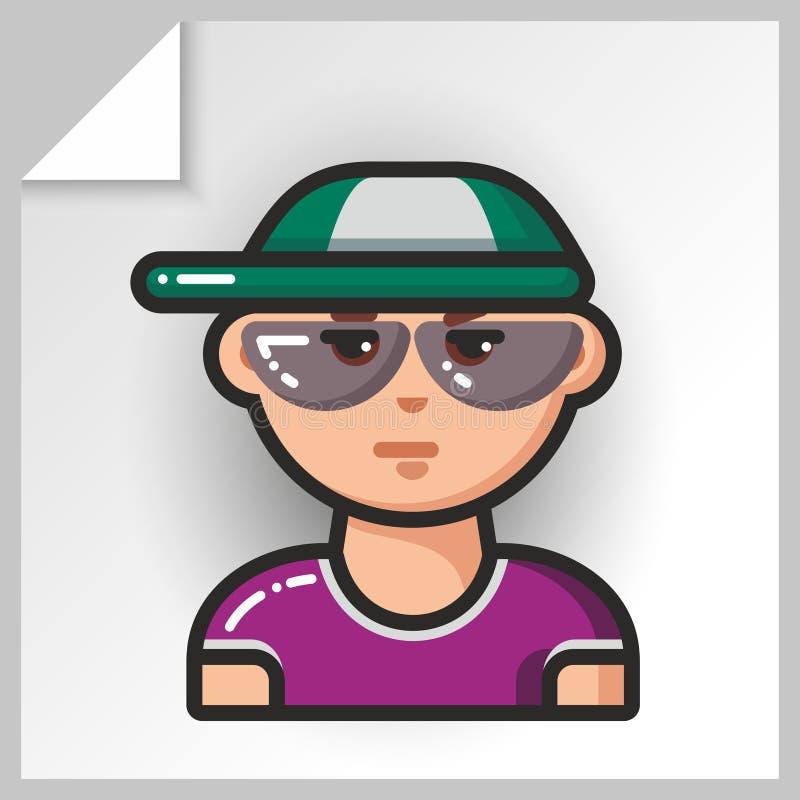 Fronte icons_8 della gente illustrazione di stock