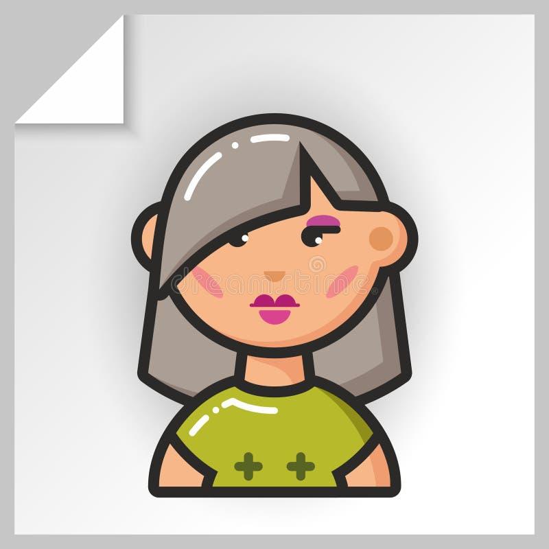 Fronte icons_9 della gente royalty illustrazione gratis