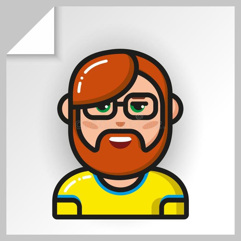 Fronte icons_22 della gente illustrazione di stock
