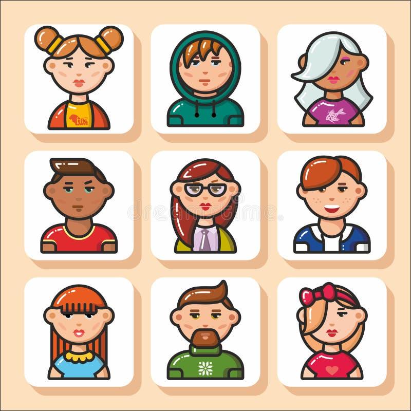 Fronte icons_31 della gente illustrazione vettoriale