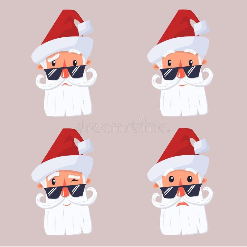 Fronte il Babbo Natale illustrazione di stock