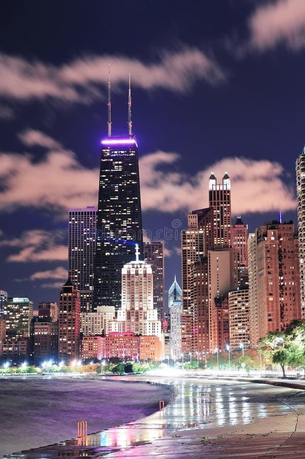 Fronte lago del Chicago fotografie stock libere da diritti
