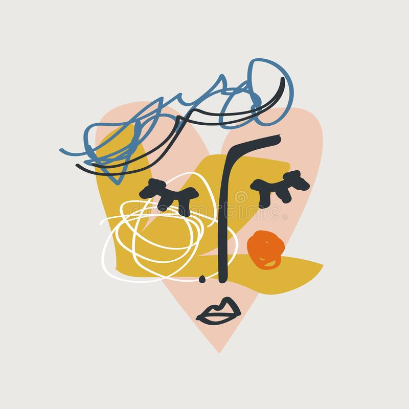 Fronte moderno con le forme astratte, stampa alla moda isolata del collage Vettore ed immagine di jpg, clipart, dettagli isolati  illustrazione vettoriale