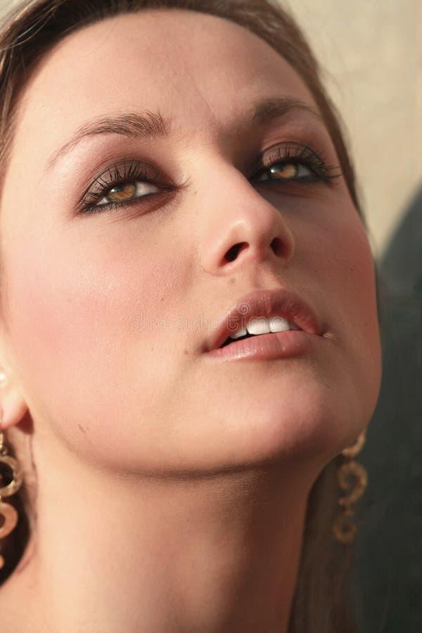 Fronte molto bello della donna fotografie stock libere da diritti