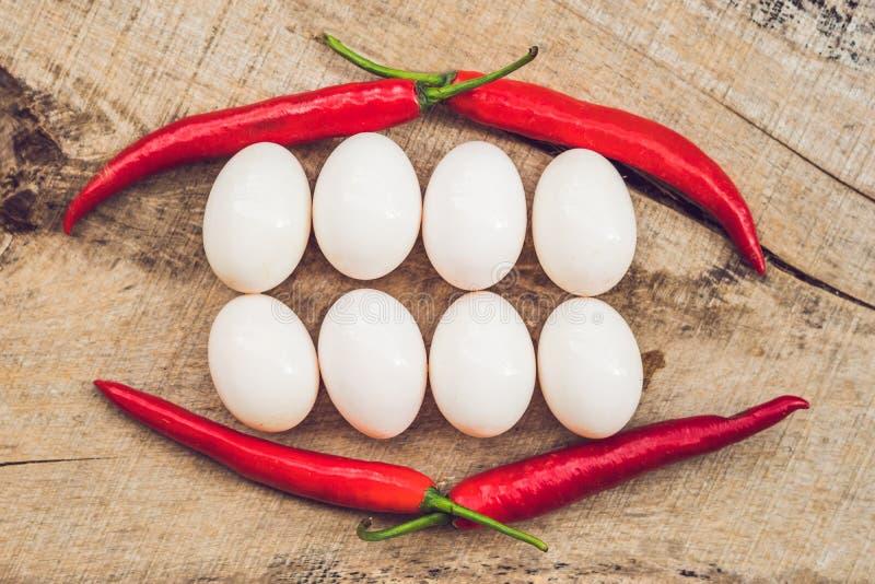 Fronte sorridente sano dell'alimento Concetto dell'alimento di prima colazione, concetto felice di pasqua Denti bianchi di sorris immagine stock libera da diritti