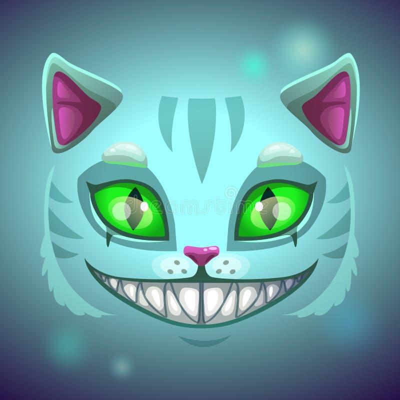 Fronte sorridente spaventoso del gatto di fantasia royalty illustrazione gratis