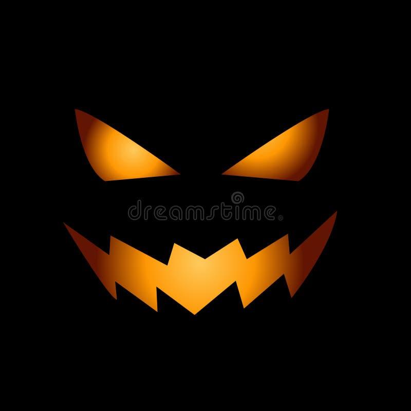 Fronte spaventoso della zucca di Halloween royalty illustrazione gratis