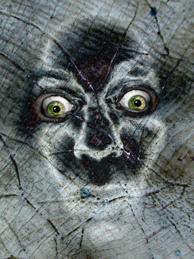 Fronte spaventoso di fischio del fantasma di Halloween illustrazione di stock