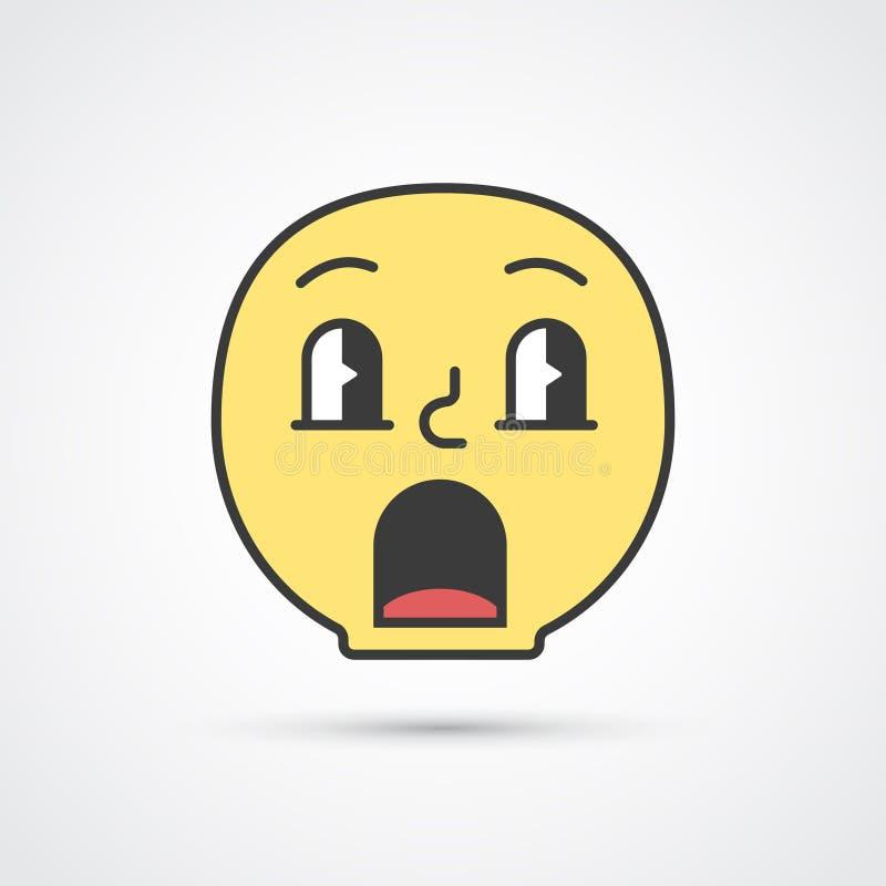 Fronte stupito di emoji con i grandi occhi Vettore eps10 royalty illustrazione gratis