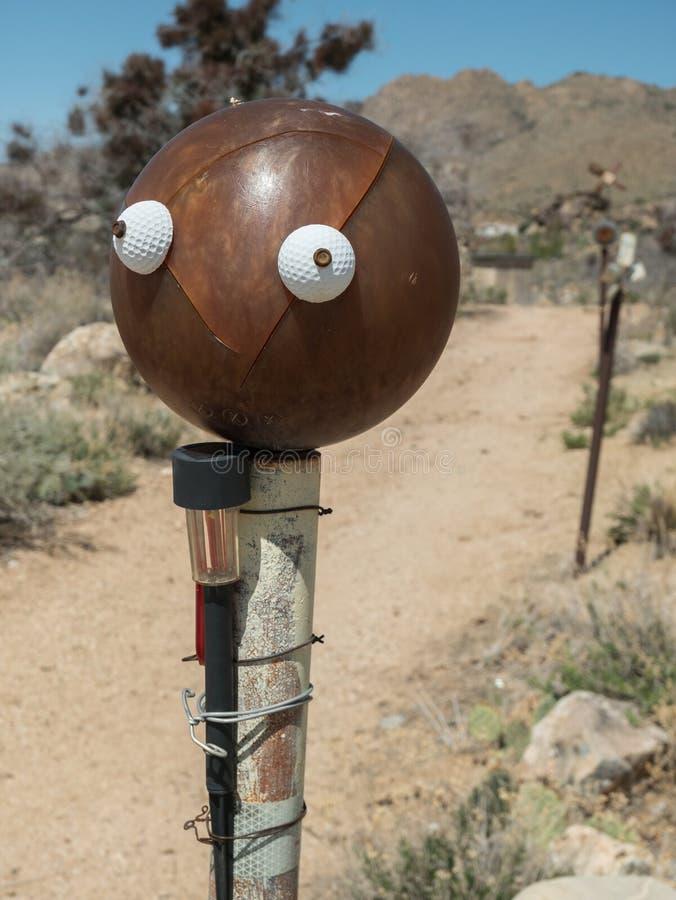 Fronte su una palla da bowling, arte dell'iarda immagini stock libere da diritti