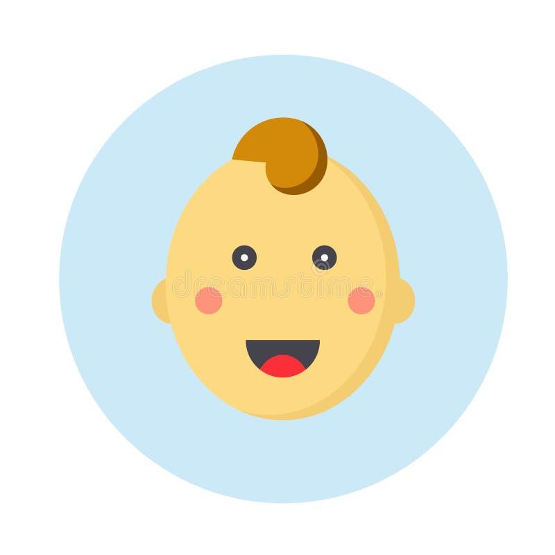 Fronte sveglio del bambino senza capelli royalty illustrazione gratis