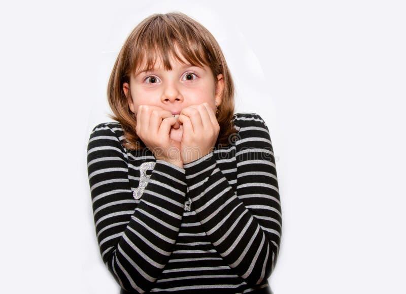 Fronte teenager colpito della ragazza fotografia stock