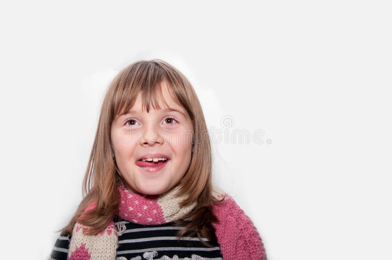 Fronte teenager felice della ragazza fotografia stock libera da diritti
