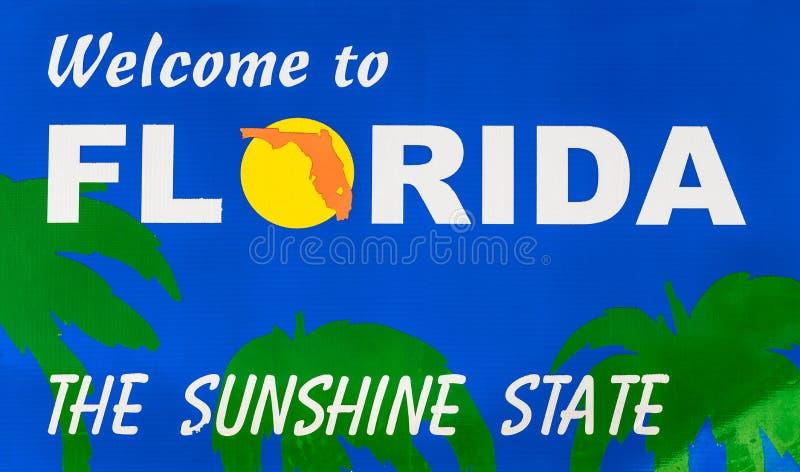 Fronteira estadual de Florida foto de stock royalty free