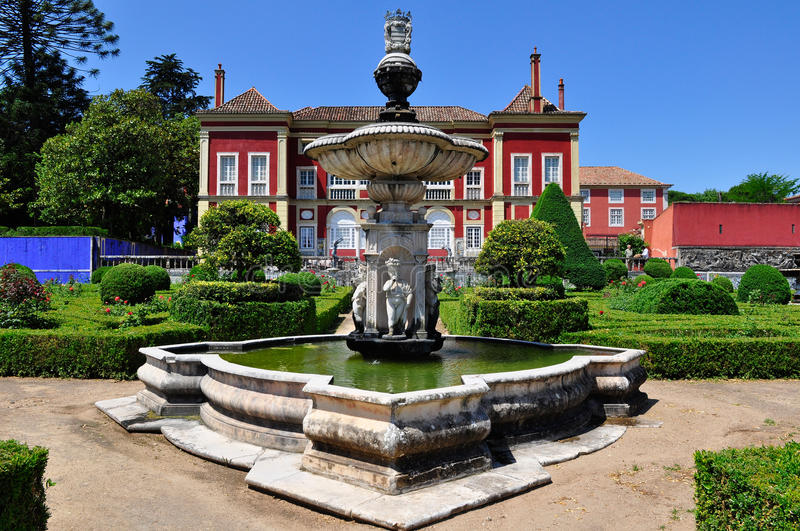 Fronteira Palace in Lisbon, Portugal stock image