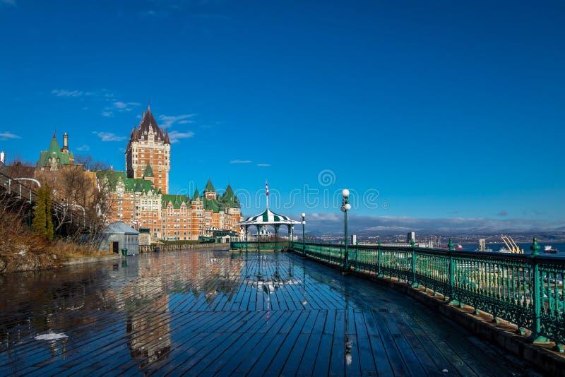 Frontenac Castle και πεζούλι Dufferin - πόλη του Κεμπέκ, Κεμπέκ, Καναδάς στοκ φωτογραφίες με δικαίωμα ελεύθερης χρήσης