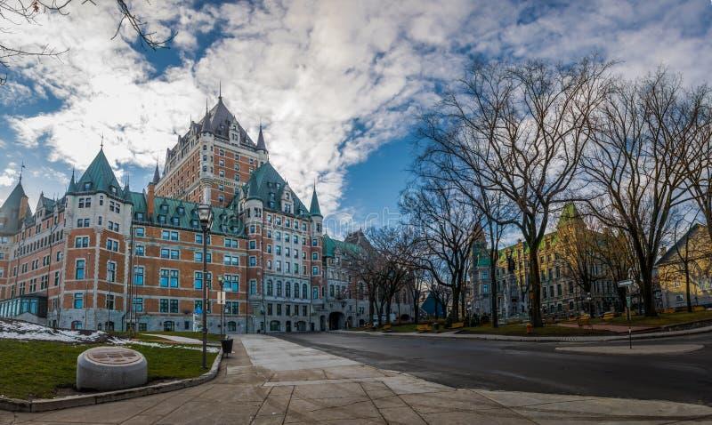 Frontenac Castle - πόλη του Κεμπέκ, Κεμπέκ, Καναδάς στοκ φωτογραφίες