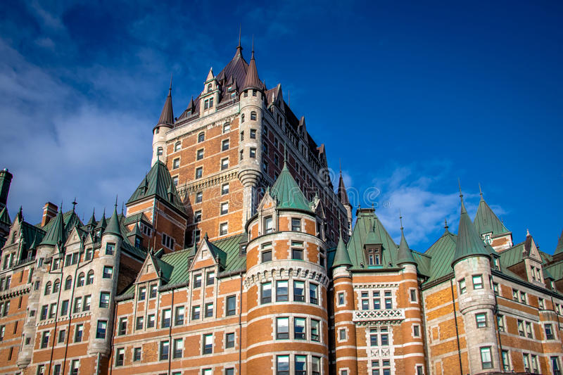 Frontenac Castle Detail - Quebec City, Quebec, Canada stock image