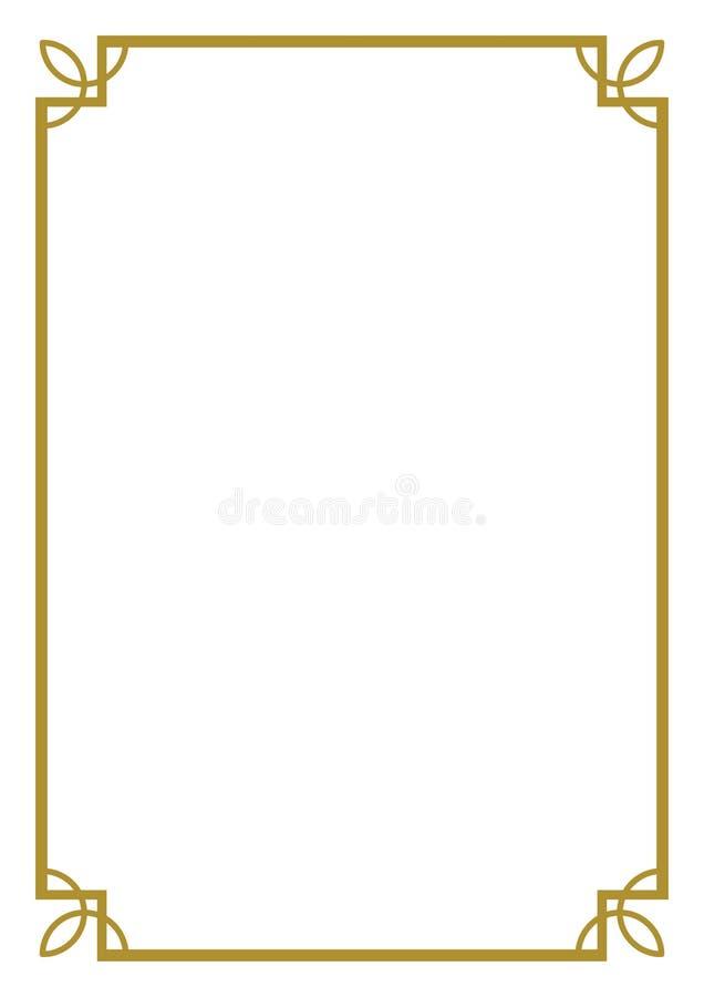 Frontera ilustración del vector