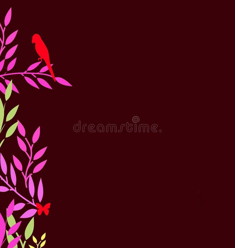 Frontera abstracta de hojas coloridas libre illustration