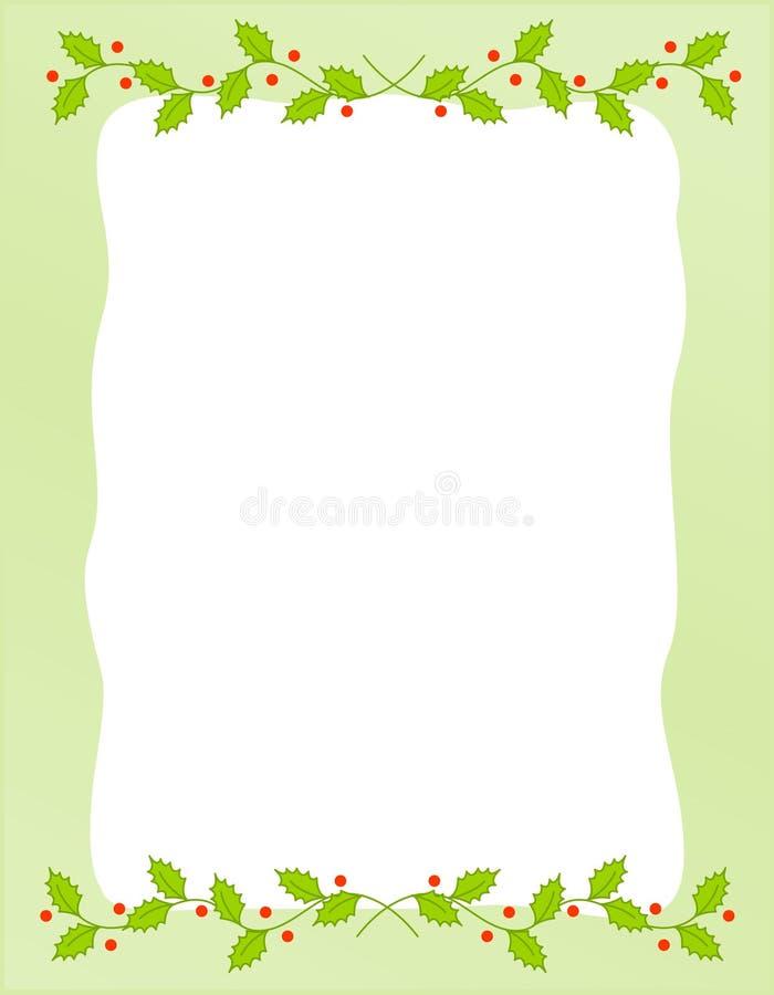 Frontera/acebo de la Navidad libre illustration