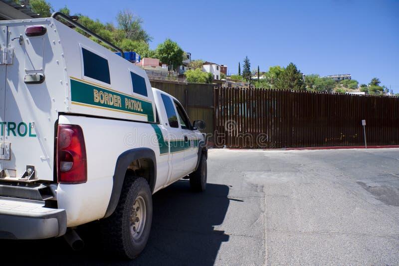 Frontera americana/mexicana fotografía de archivo libre de regalías