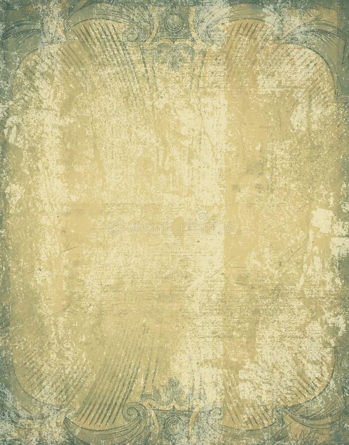 Frontera antigua azul ilustración del vector