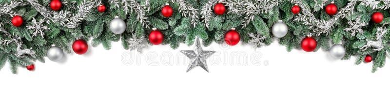 Frontera arco-formada ancha de la Navidad fotografía de archivo libre de regalías
