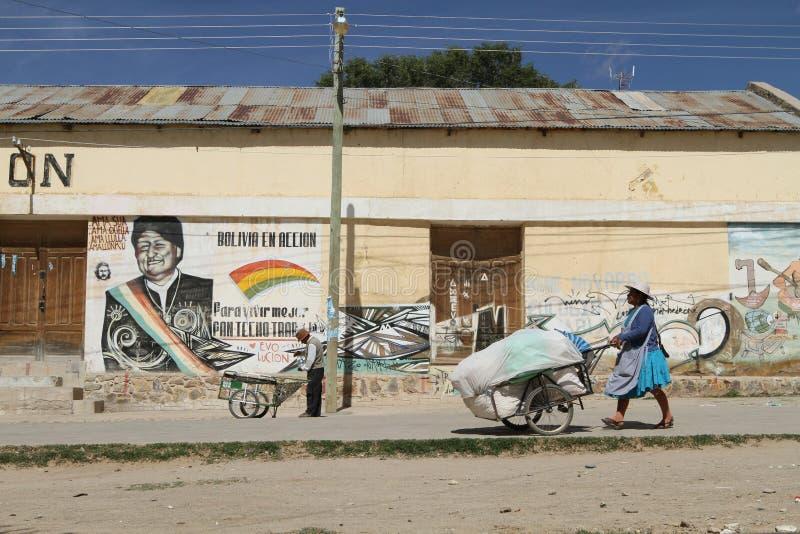 Frontera Argentina-Boliviana foto de archivo