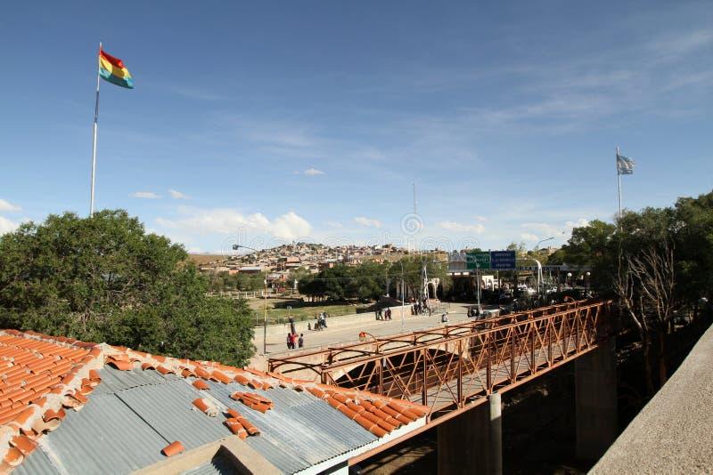Frontera Argentina-Boliviana imagen de archivo