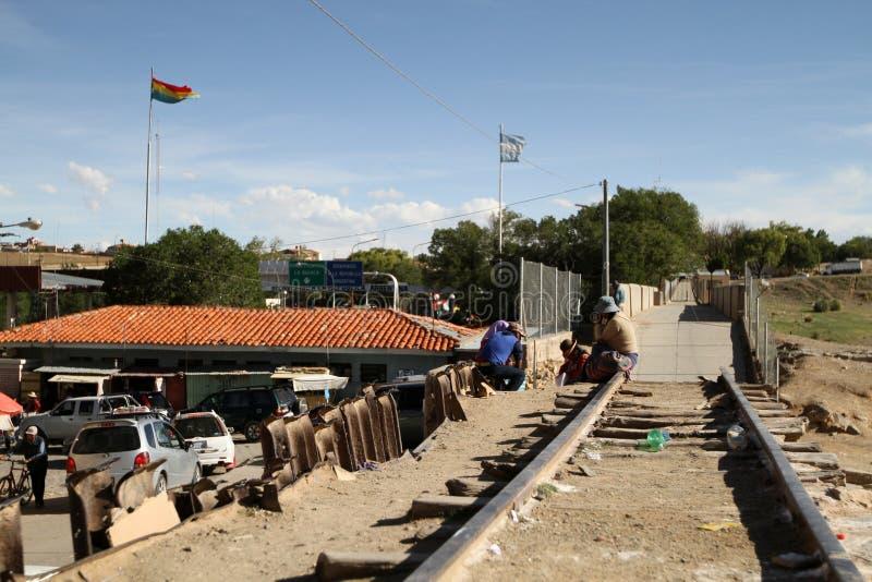 Frontera Argentina-Boliviana fotografía de archivo
