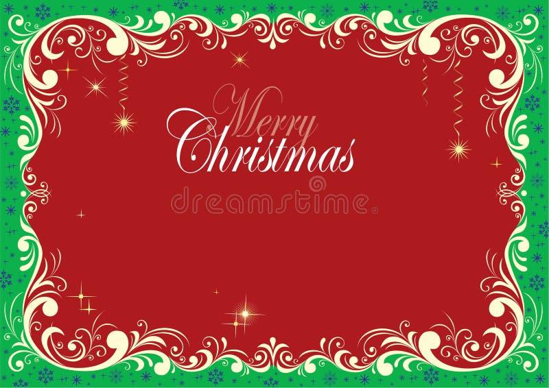 Frontera atractiva del diseño de la Navidad fotos de archivo