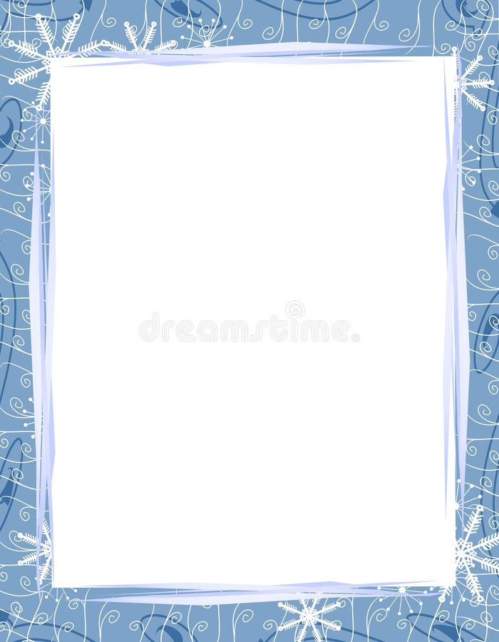 Frontera azul 2 de los copos de nieve de Navidad libre illustration
