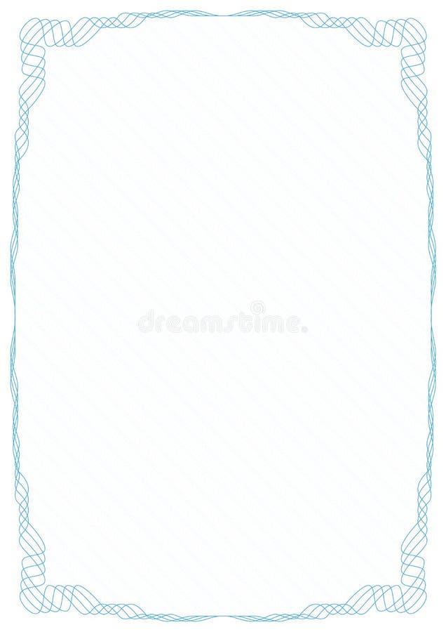 Frontera azul del marco con rejilla protectora de la seguridad stock de ilustración