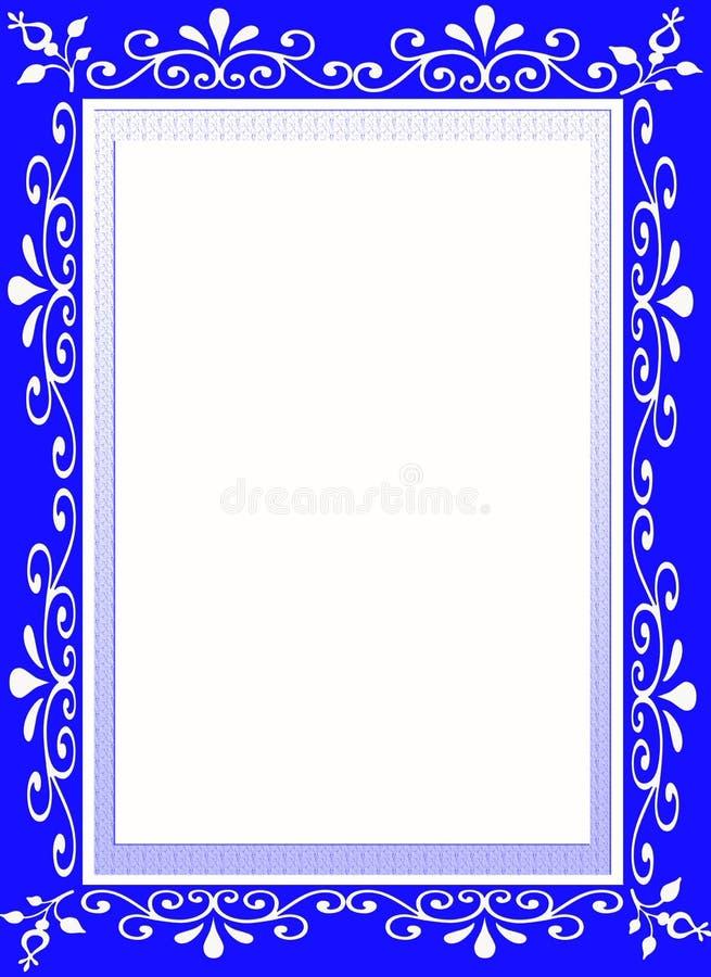 Frontera azul del marco del diseñador de la flor libre illustration