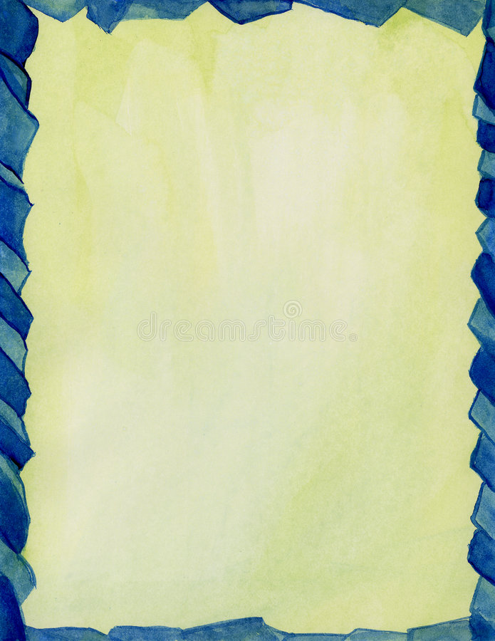 Frontera azul del vidrio manchado stock de ilustración